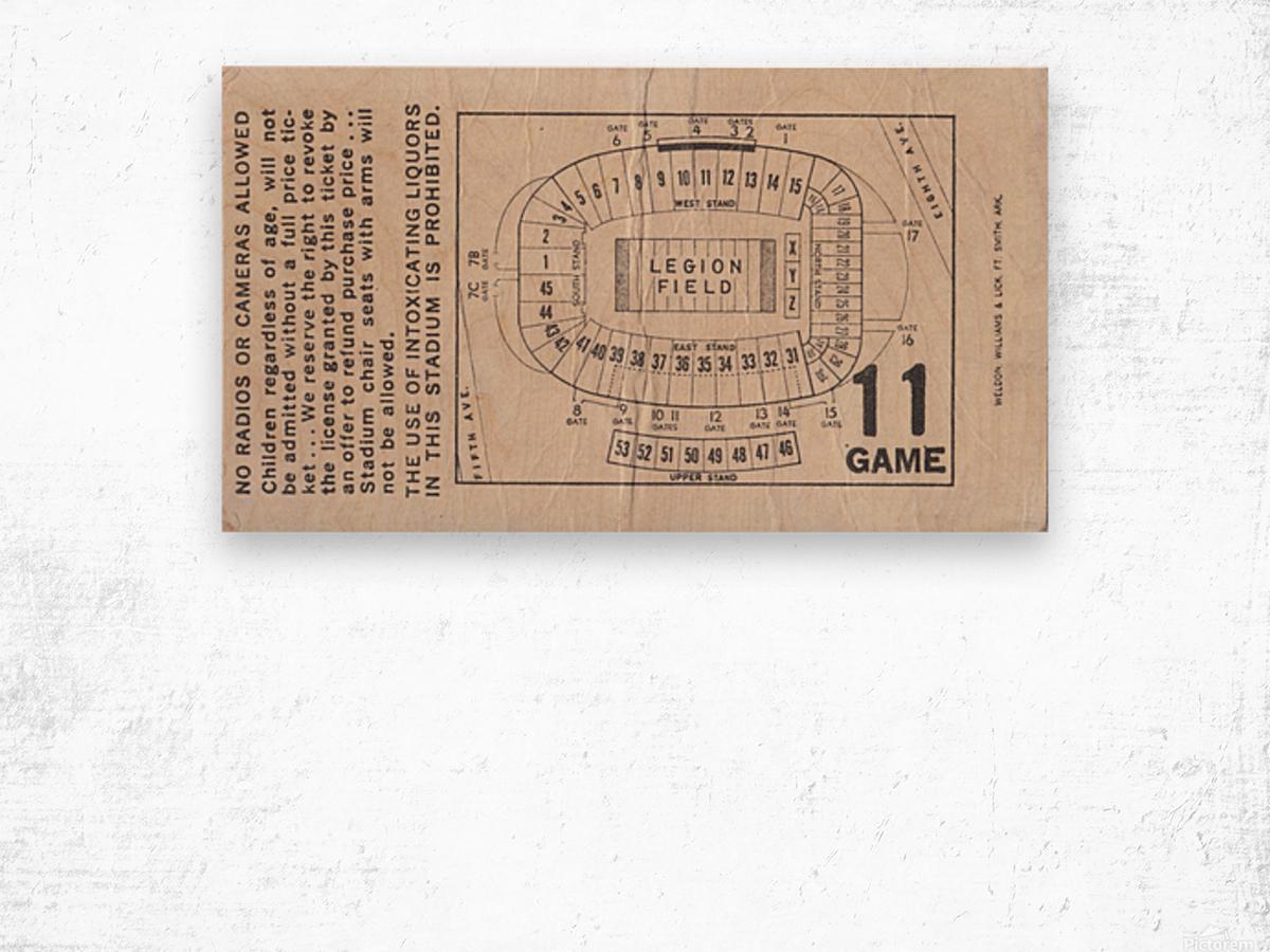 1981 Legion Field Map Wood print