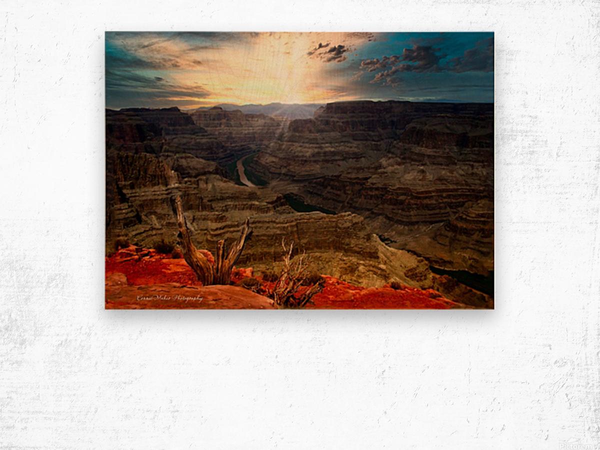 Sunrise over Grand Canyon Wood print