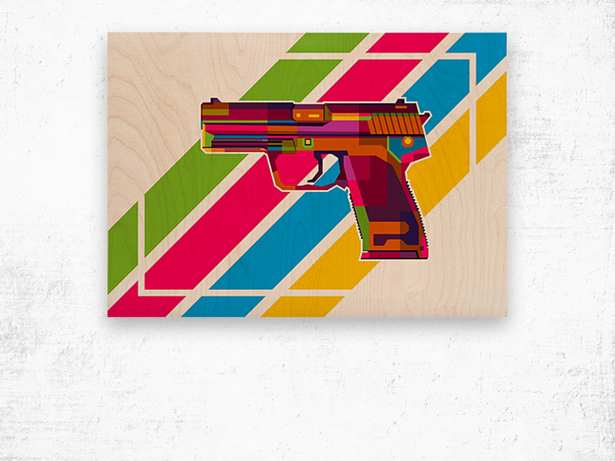 Heckler and Koch USP Handgun Wood print