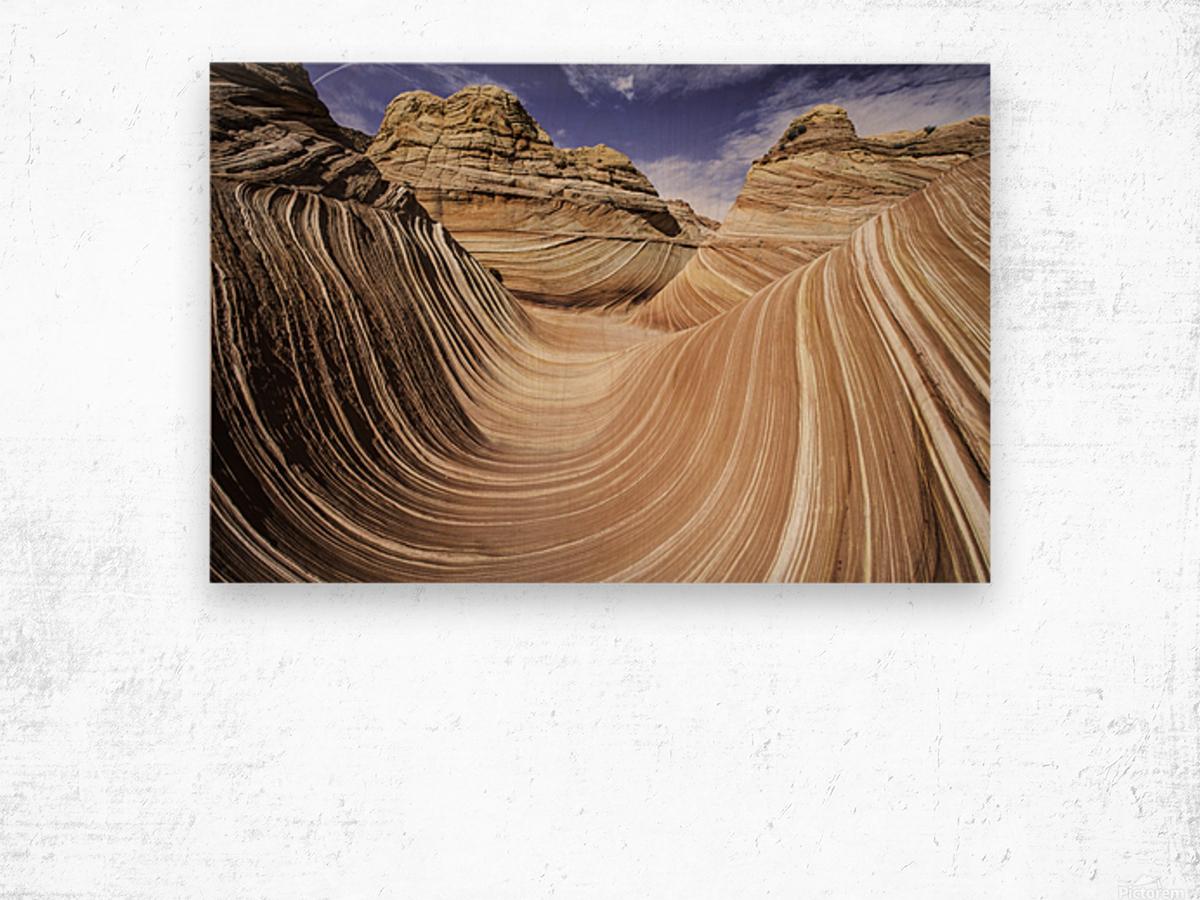 Sand Waves Wood print