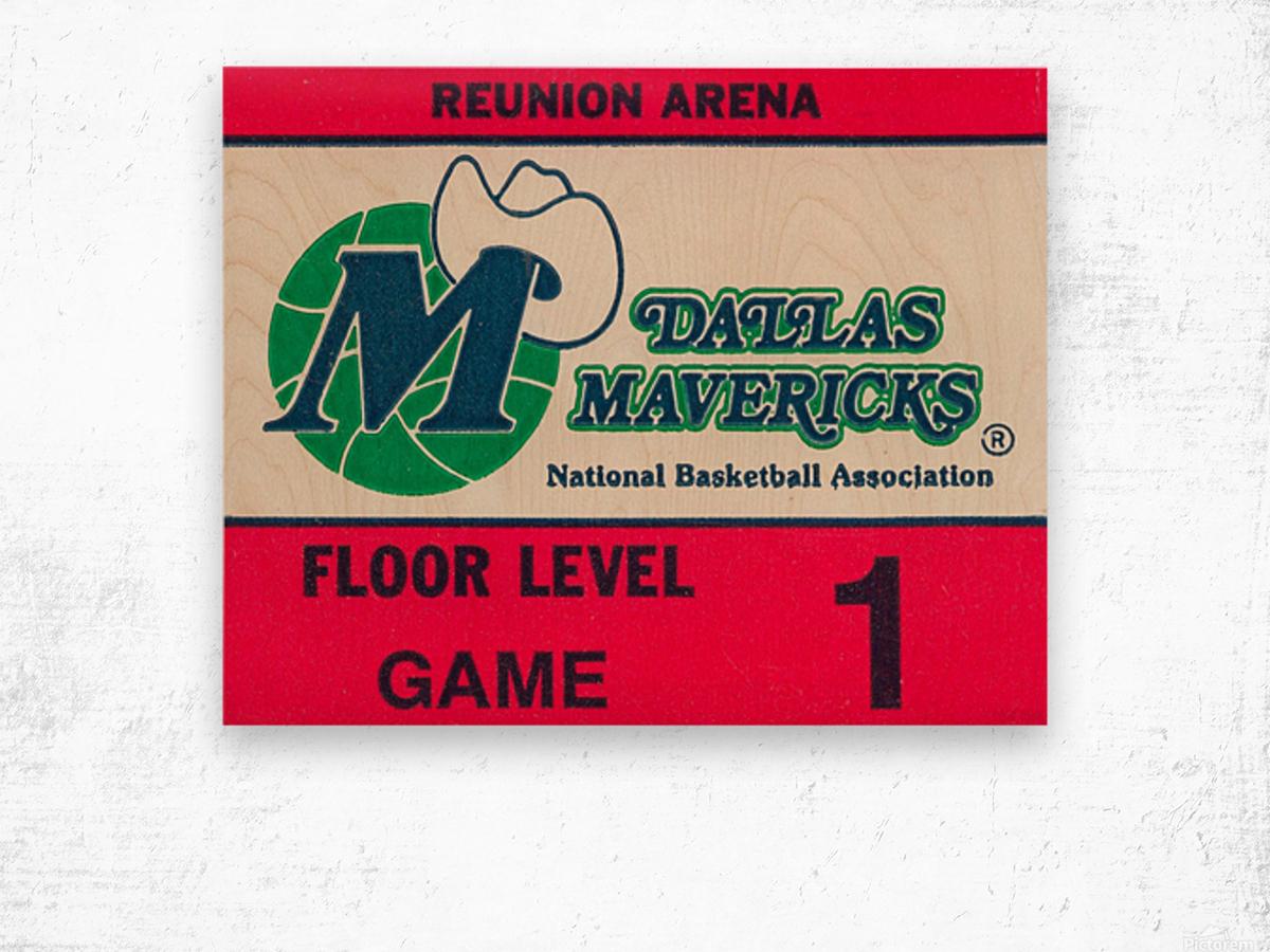 Vintage Dallas Mavericks Wall Art_Ticket Stub Artwork Reproduction Wood print