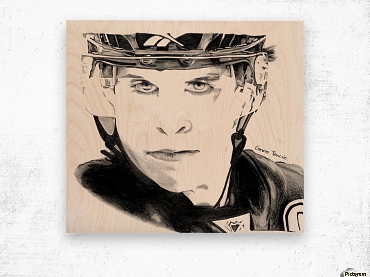 Great player Wood print