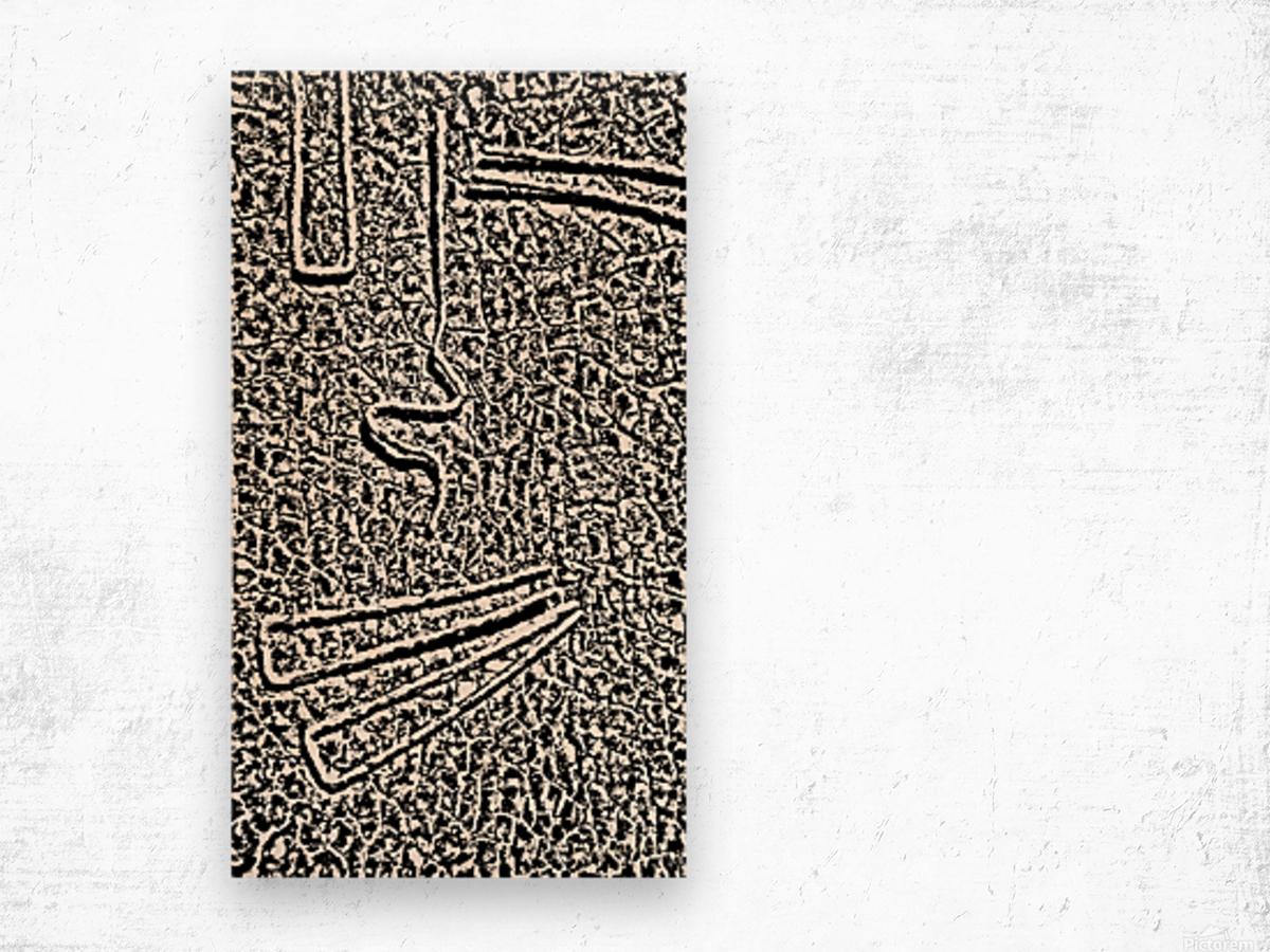 Hello. Wood print