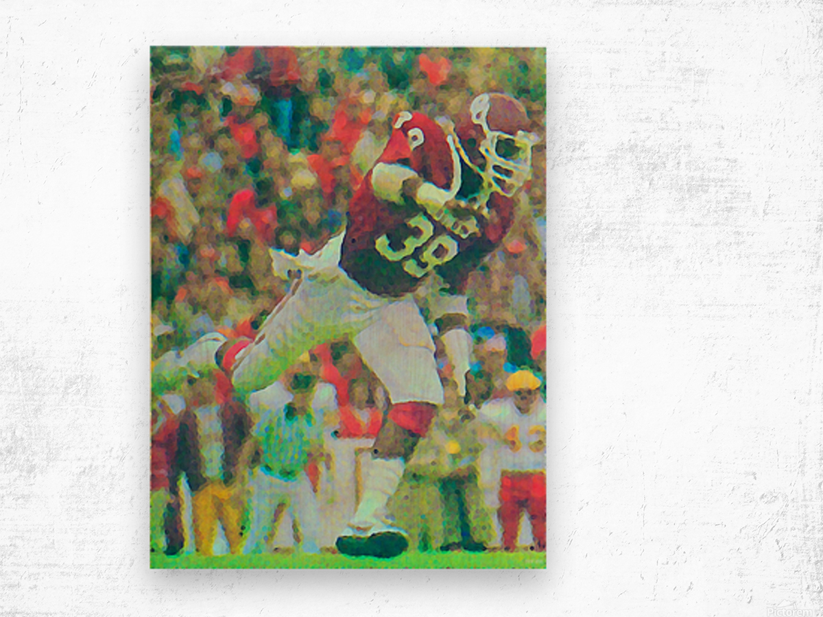 All American Kevin Murphy 39 Defensive End Oklahoma Football Art_OU Sooners Wall Art Wood print
