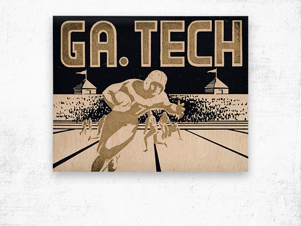 Vintage Georgia Tech Football Art_College Football Fine Art Print Wood print