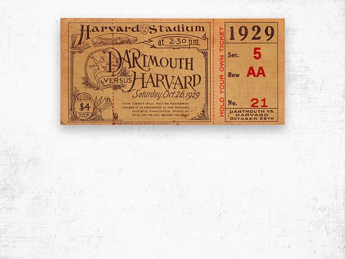 1929 Dartmouth vs. Harvard Wood print