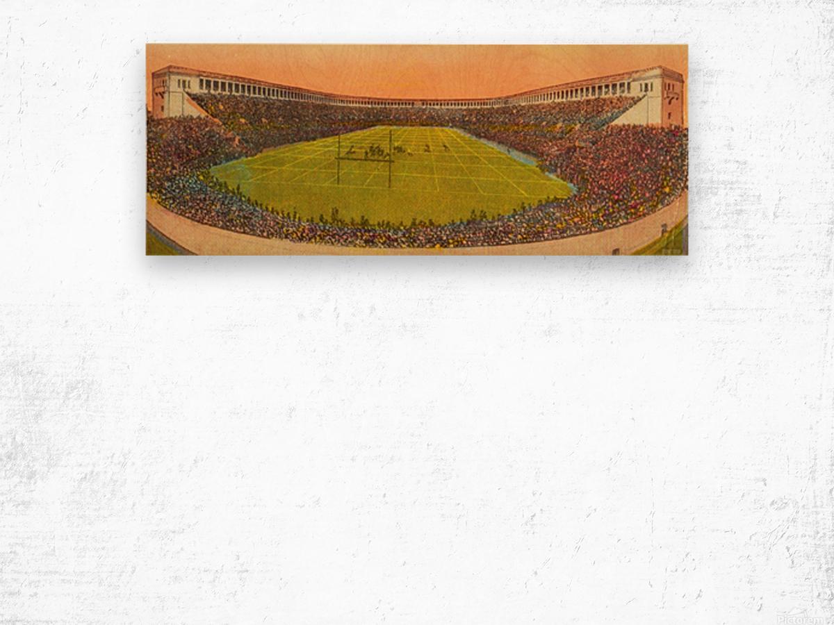 Vintage Football Stadium Art (1919) Wood print