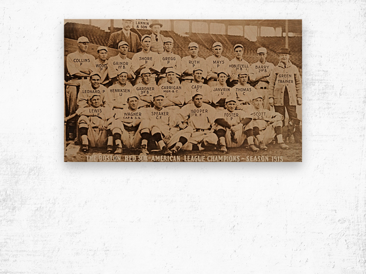 1915 Boston Red Sox Team Photo Wood print