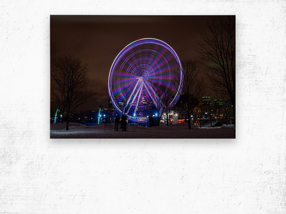 The ferris wheel Wood print