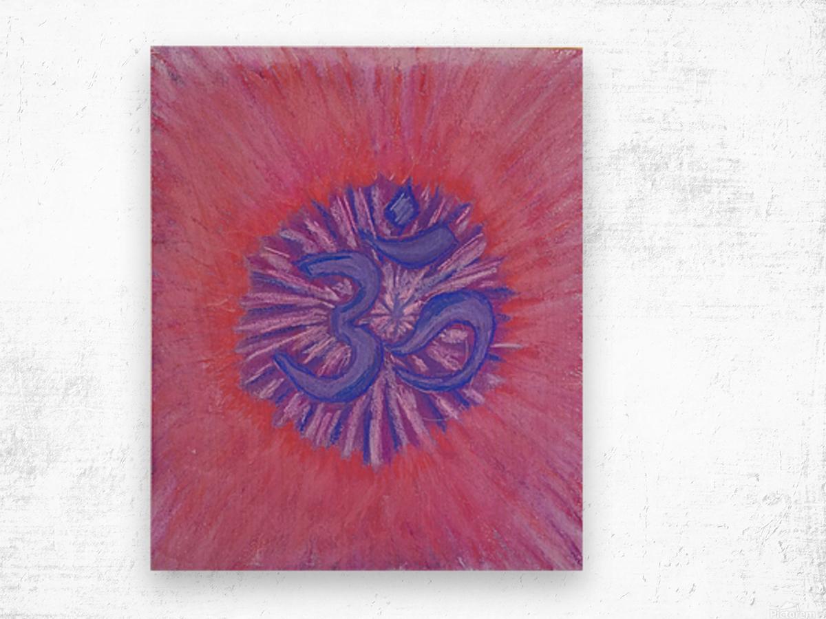 Om pink purple spring 2020 Wood print