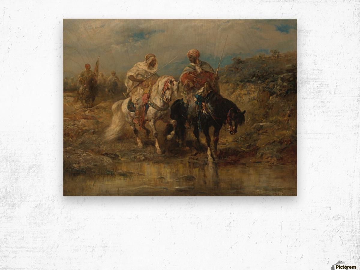 Arab horsemen raiding Wood print