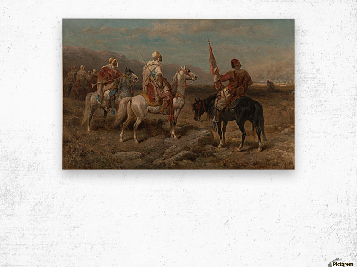 Arab caravan patrol Wood print