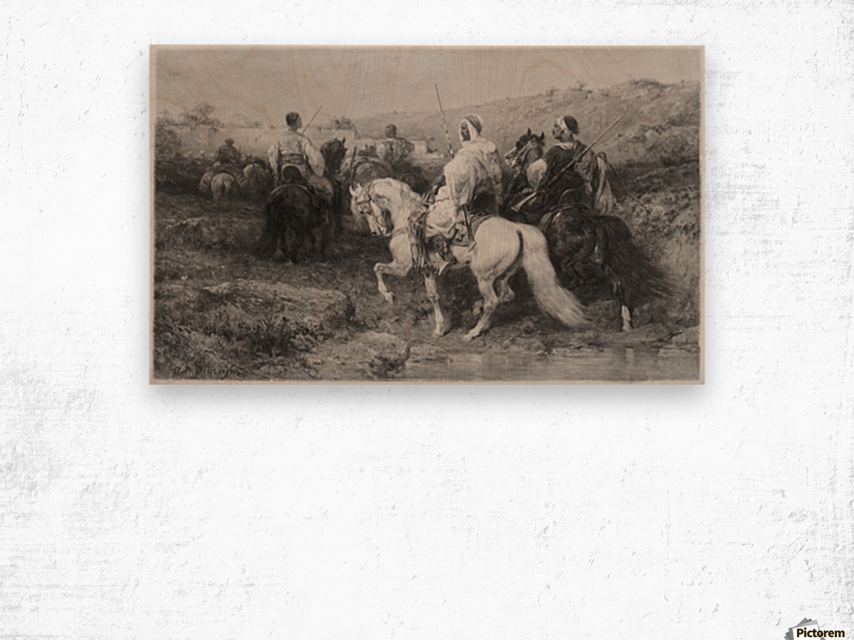 Arabs on the March Wood print