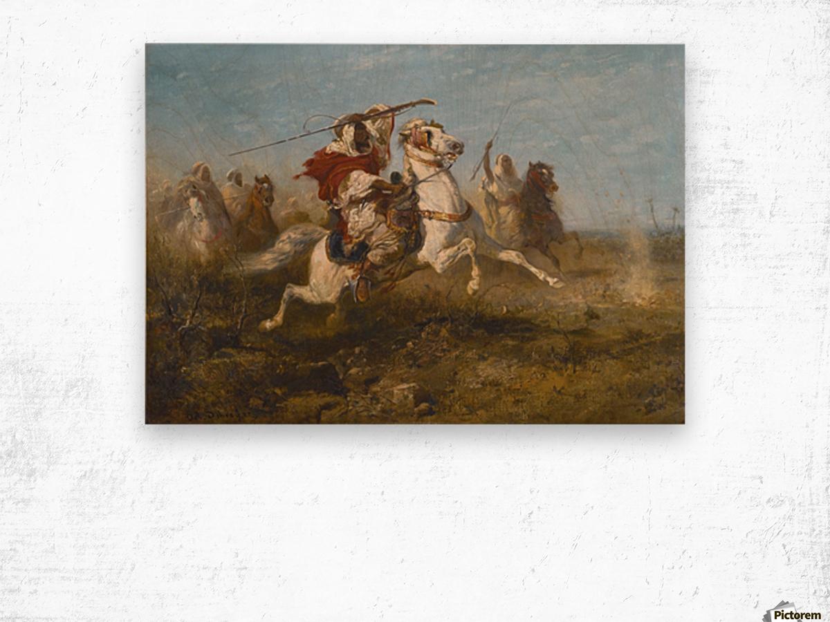 Arab raid Wood print