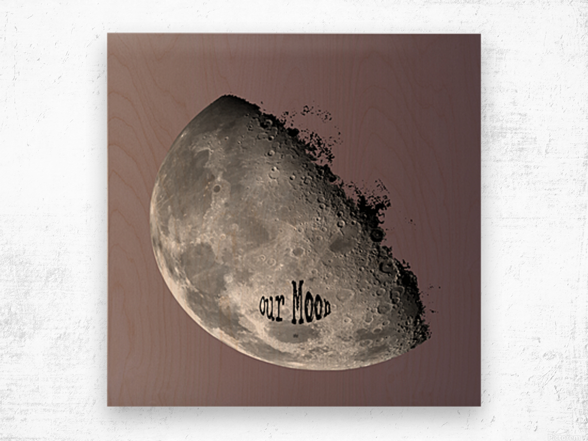 Our Moon Wood print