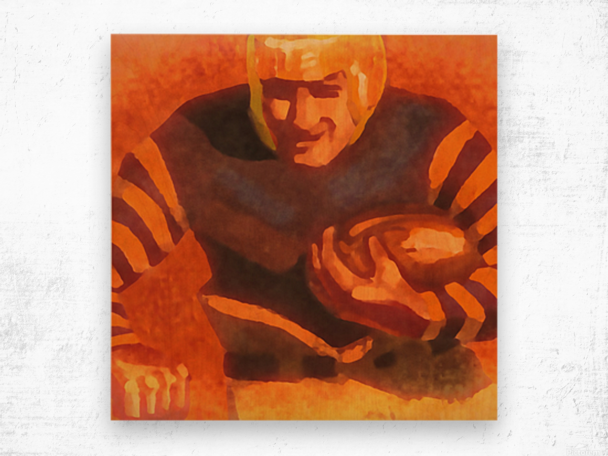 vintage football posters vintage football jersey fine art sports print Wood print
