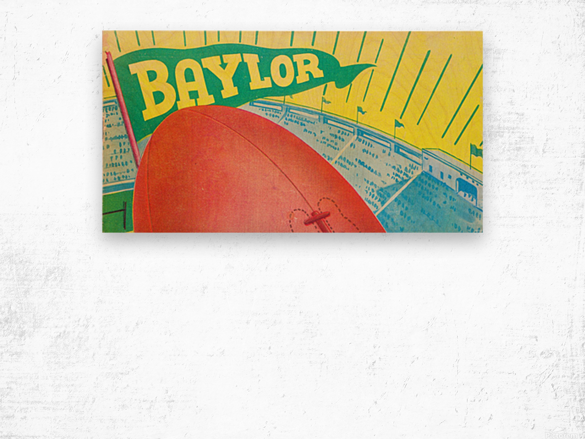Baylor Bears Football Pennant Poster (1935) Wood print