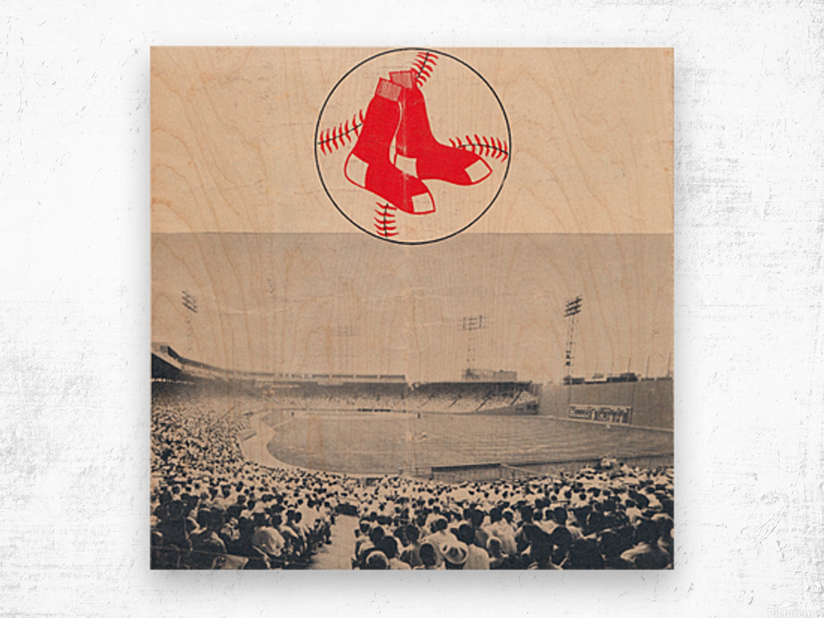 Vintage Fenway Park Poster_Boston Red Sox Photo Reproduction Wood print