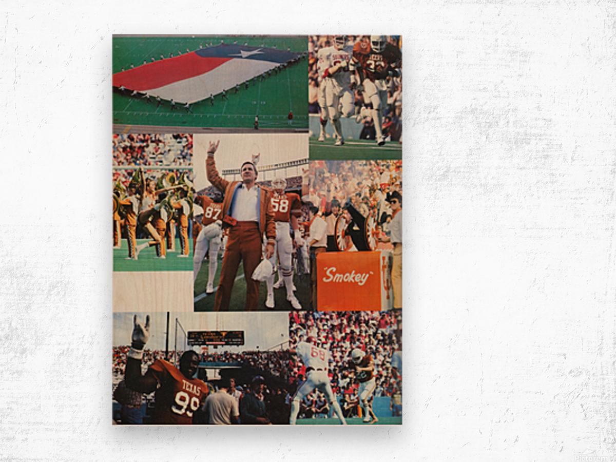 Texas Longhorns Football Poster_Texas Longhorn College Football Photo Collage Wood print
