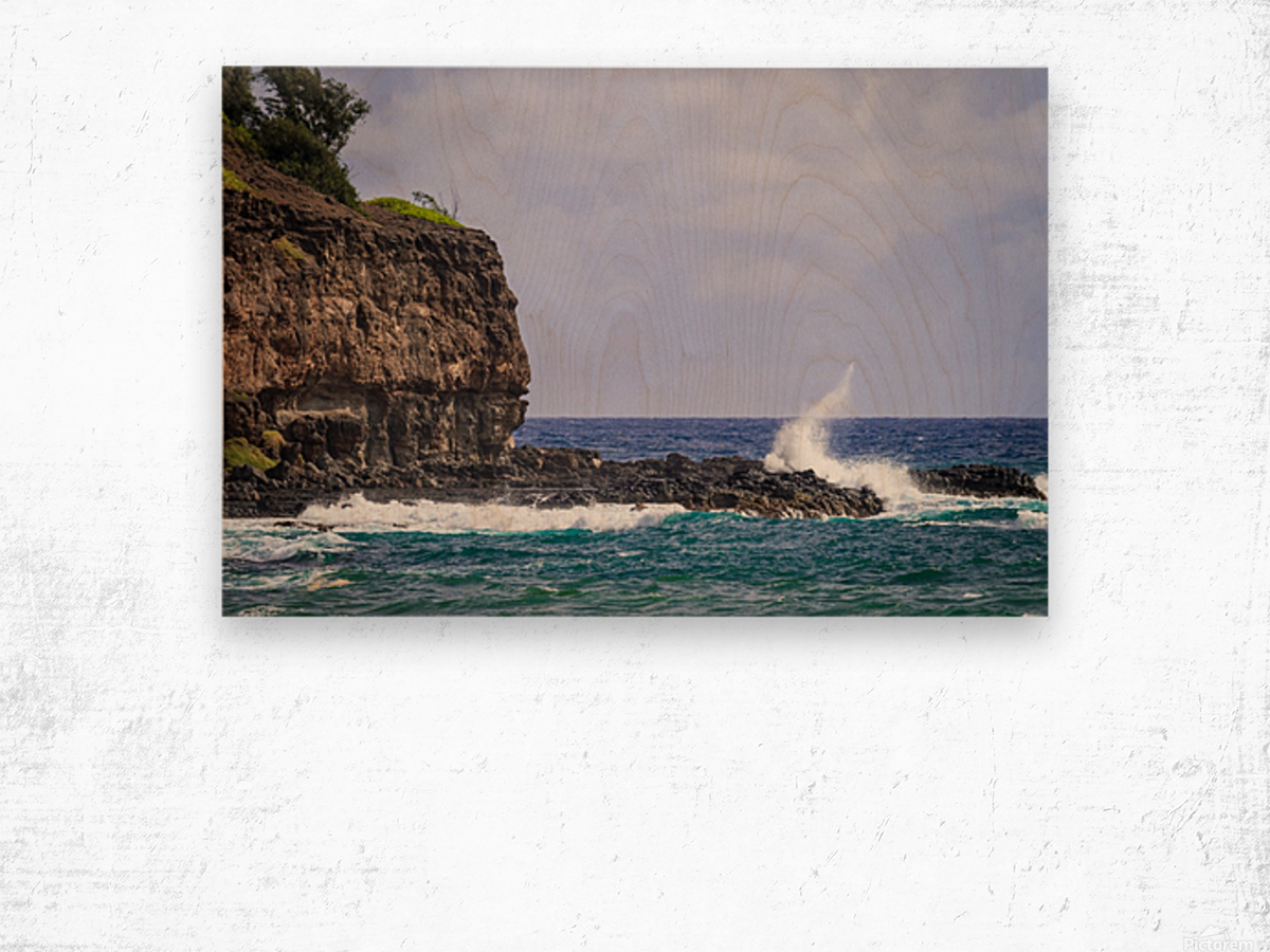 Kahili Beach   Kauai Hawaii 1035 Wood print