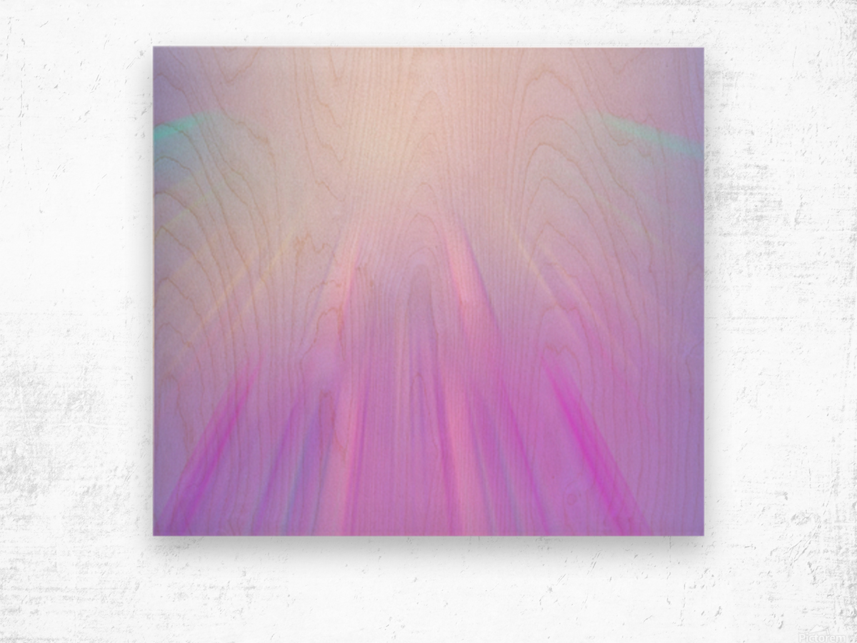 Purple Angel Wood print