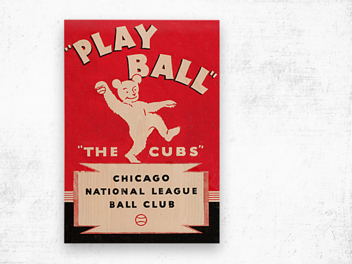 1934 Chicago Cubs  Wood print