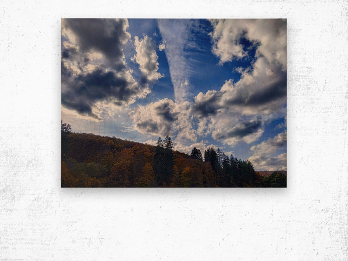 Cloudscape Wood print