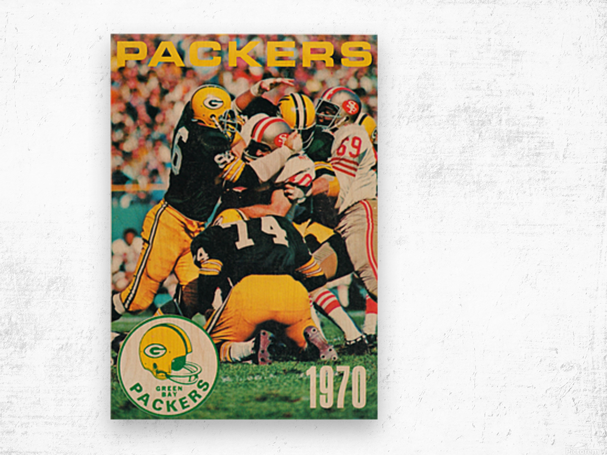 Green Bay Packers Football Poster Row One Brand Sports Art Wood print