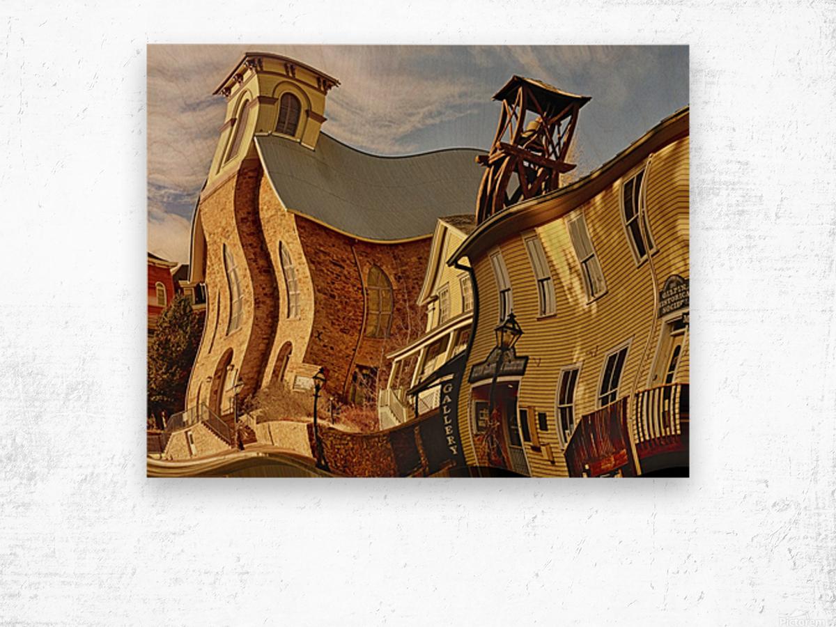 Fun Town  Wood print