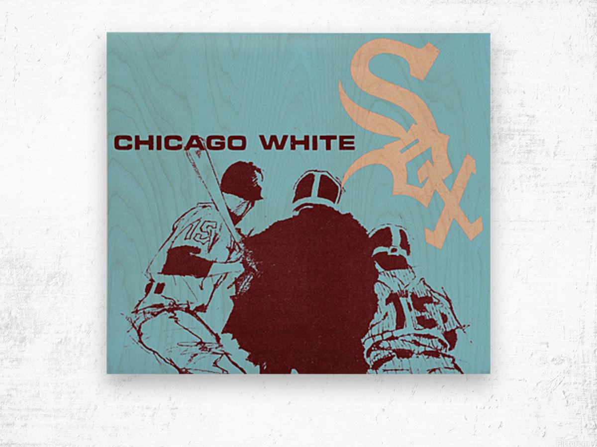 Chicago White Sox Baseball Poster Fine Art Wood print