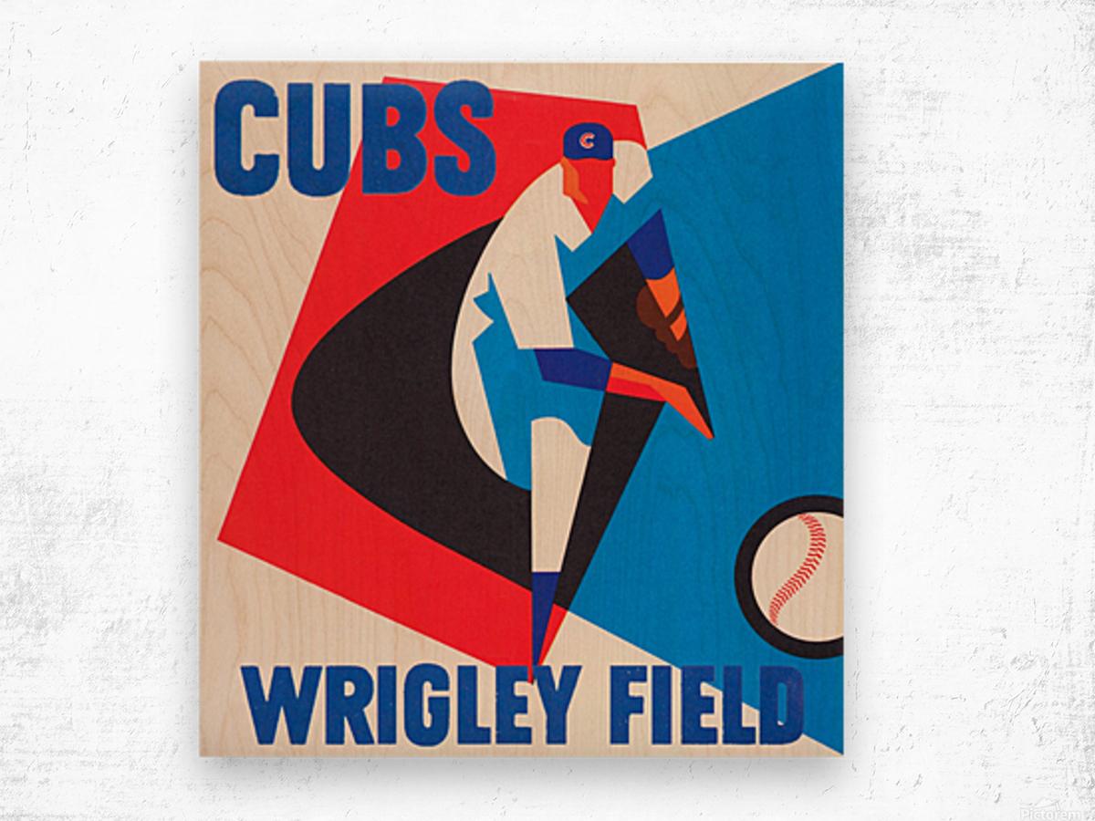 Cubs Wrigley Field Art Wood print