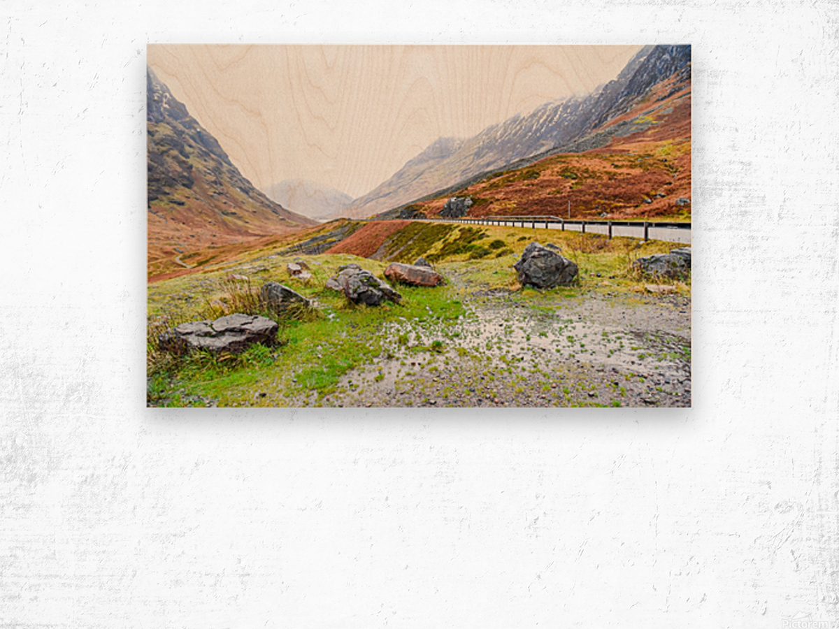 Glen Coe Scotland Highland United Kingdom Wood print