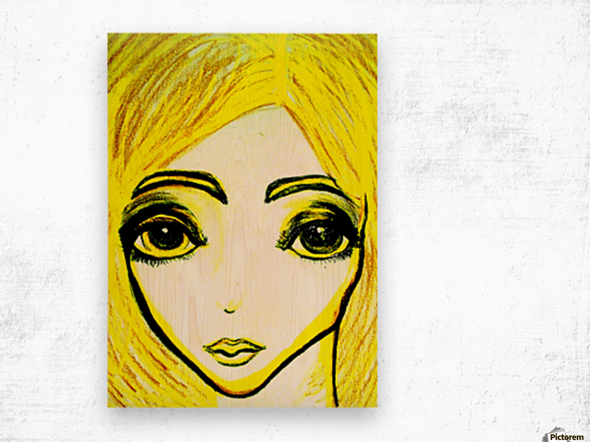 yellowgirl1 Wood print