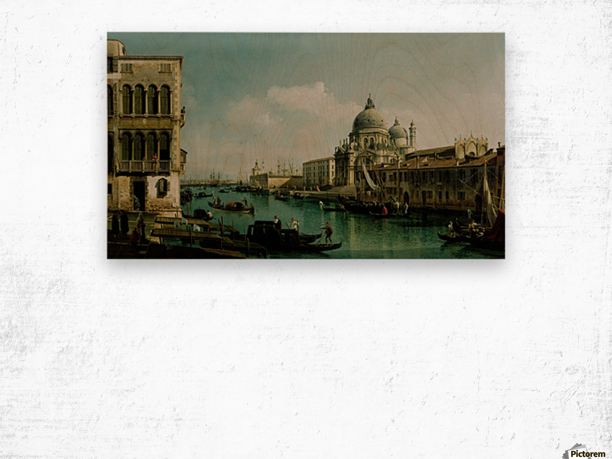 View of the Grand Canal and the Dogana Wood print