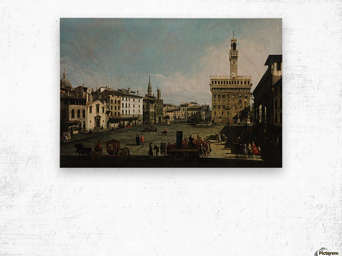 The Piazza della Signoria in Florence Wood print