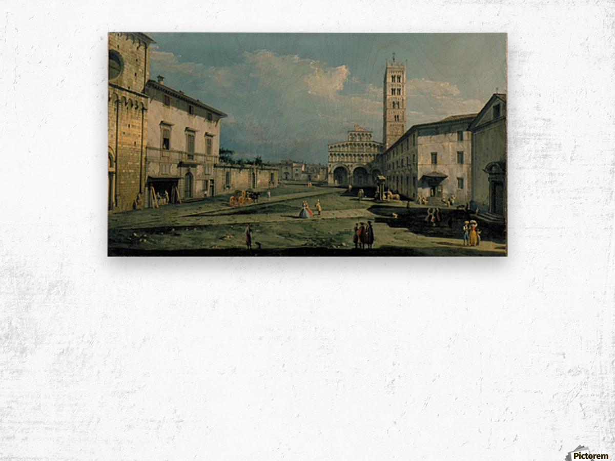The Piazza San Martino and the Cathedral Wood print