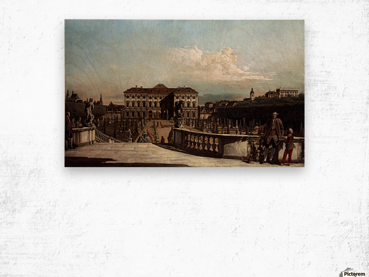 Liechtenstein Garden Palace in Vienna Wood print