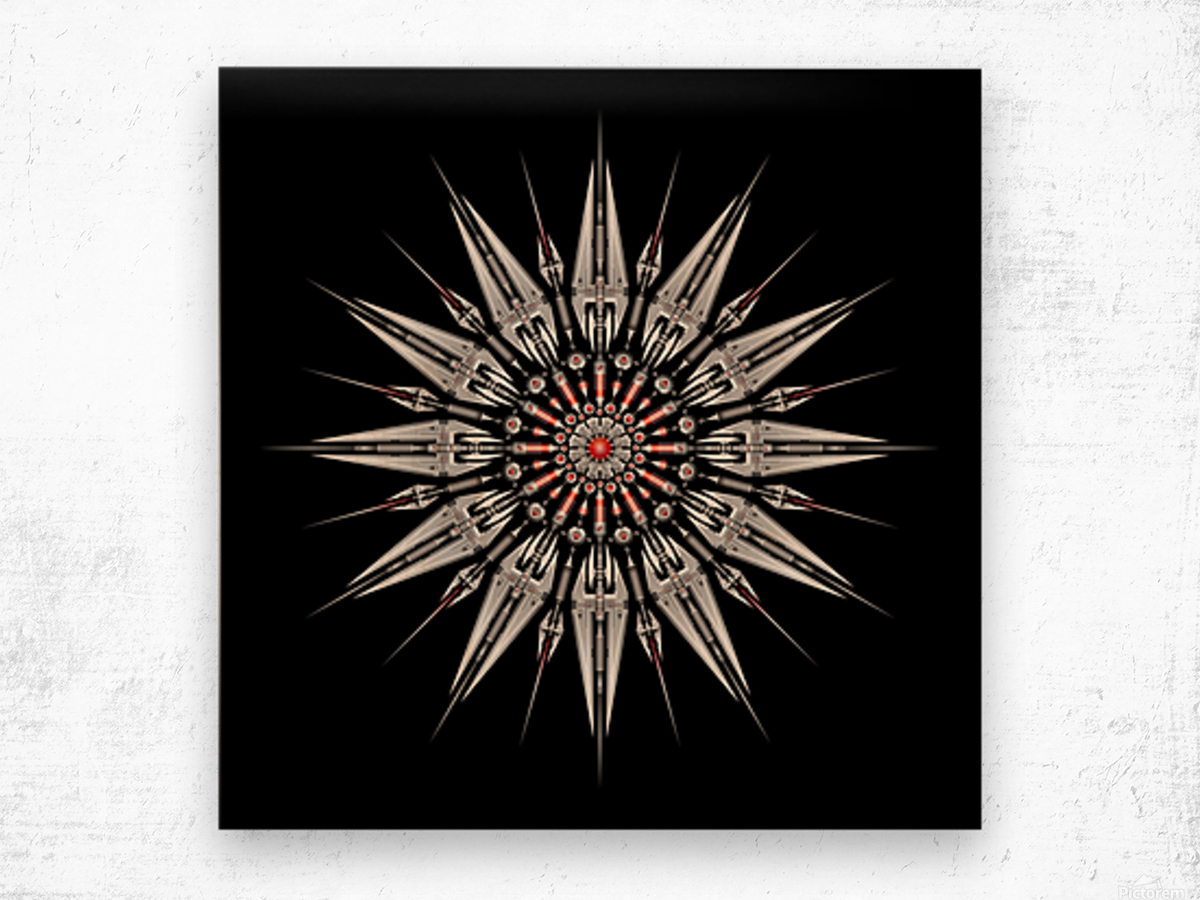 Garnet Reactor Mandala Wood print