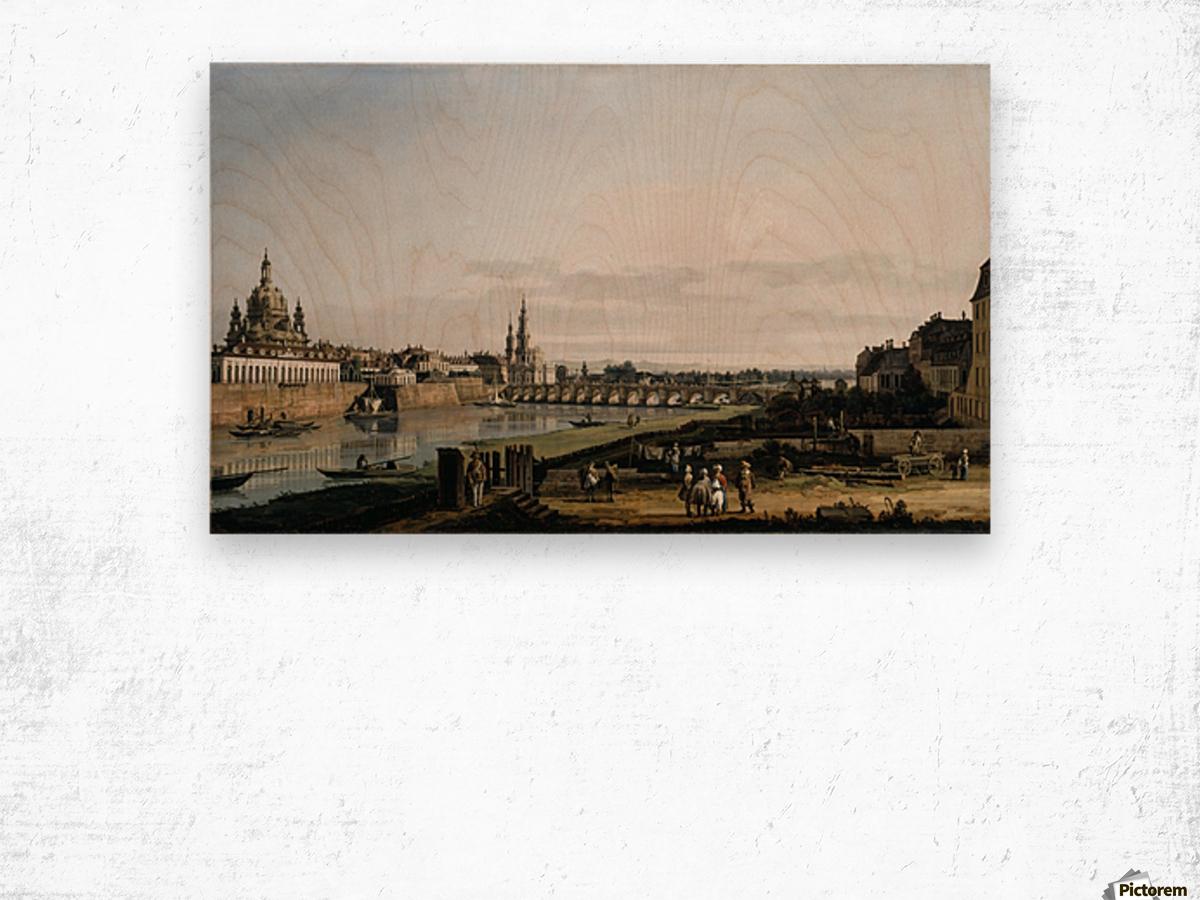 Dresden vom rechten Elbufer Wood print