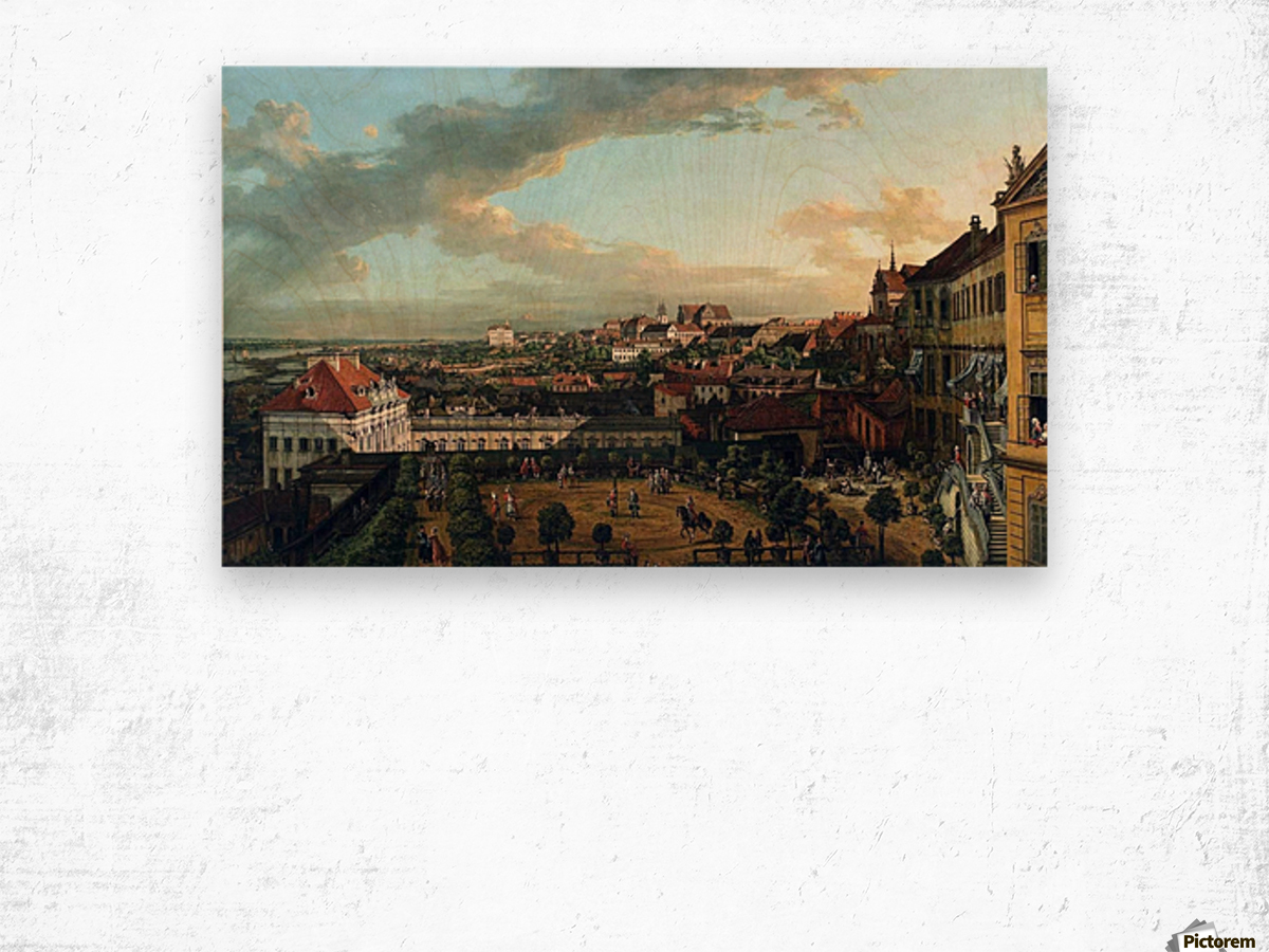 View of Warsaw from the terrace of the Royal Castle Wood print