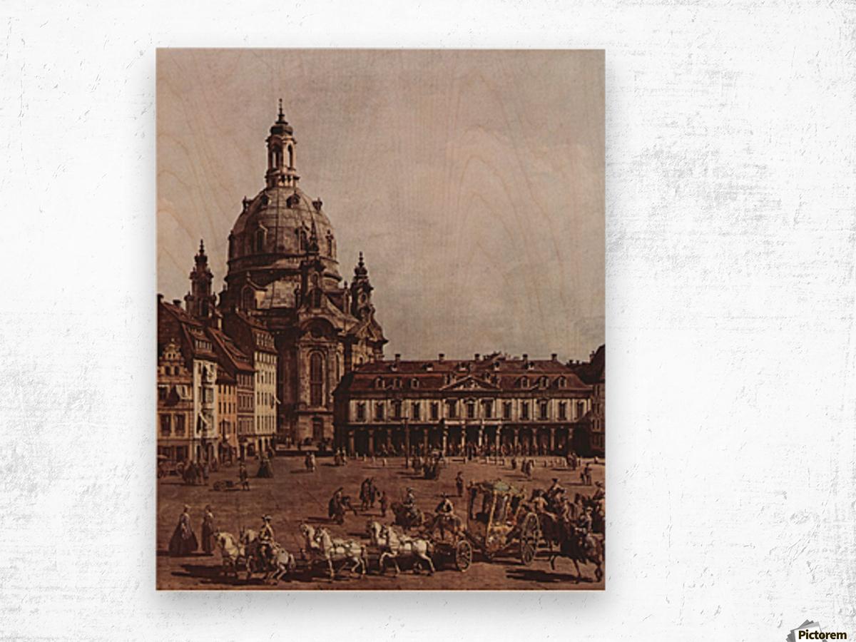 Der Neumarkt in Dresden Wood print