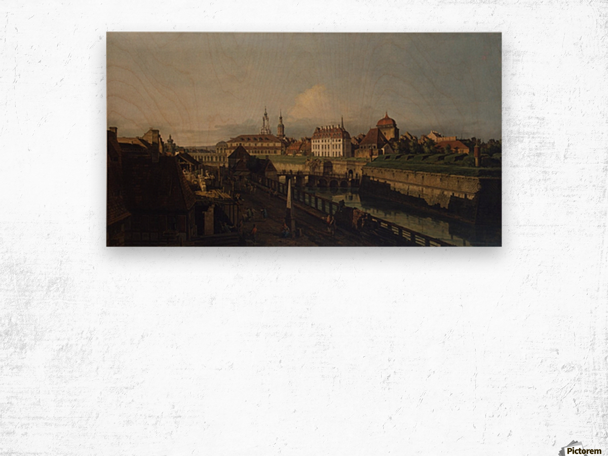 Old Fortifications of Dresden Wood print