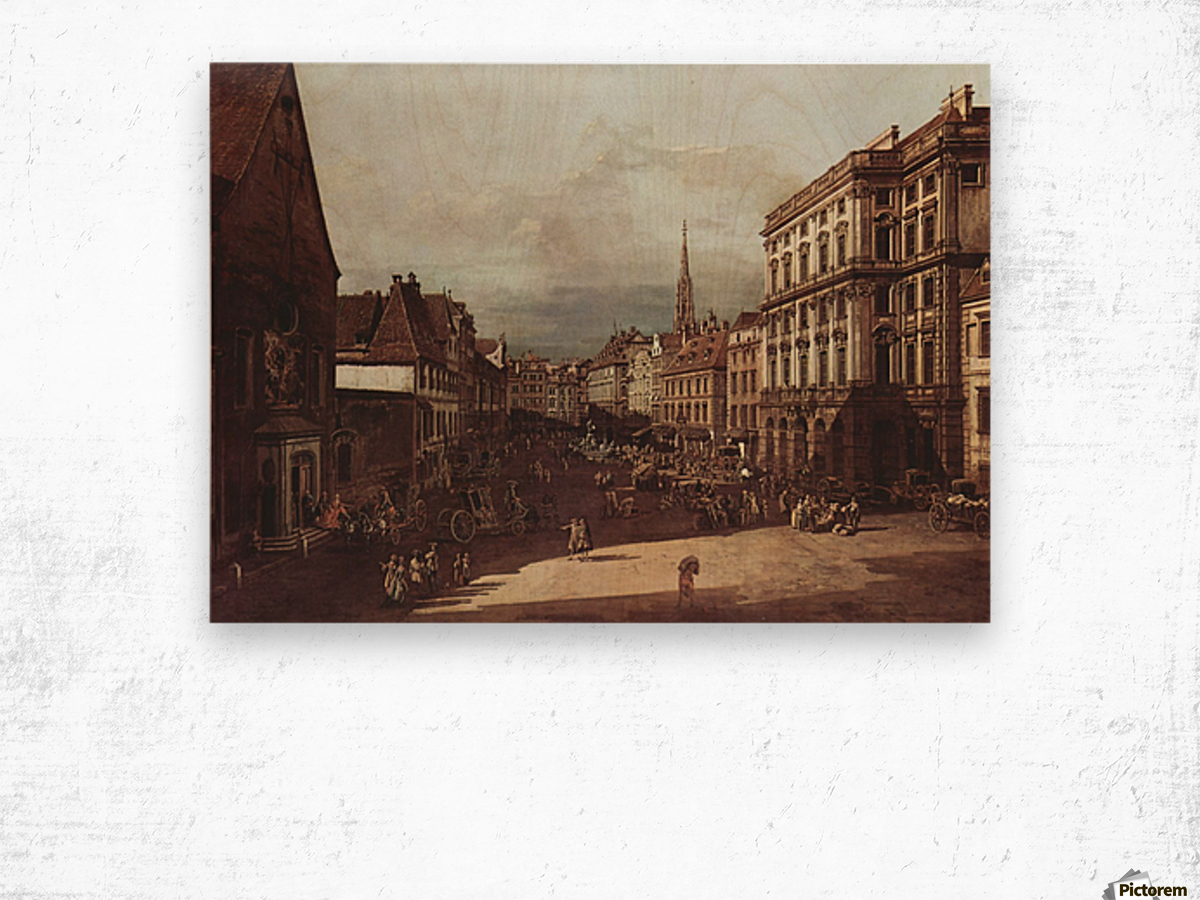 View of Vienna, flour market of Southwest seen from northeast Wood print