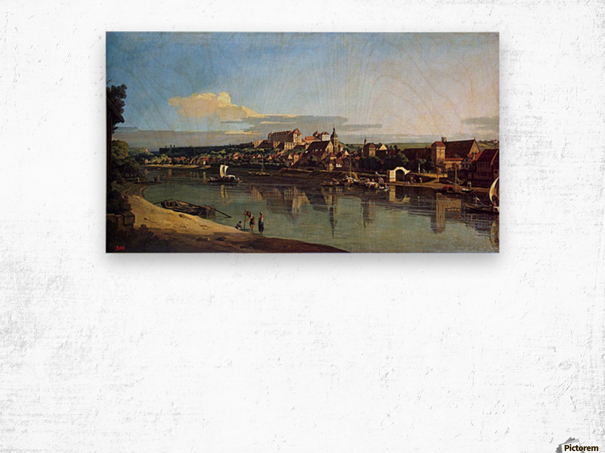 The Hermitage Museum. View of Pirna from Posta Wood print