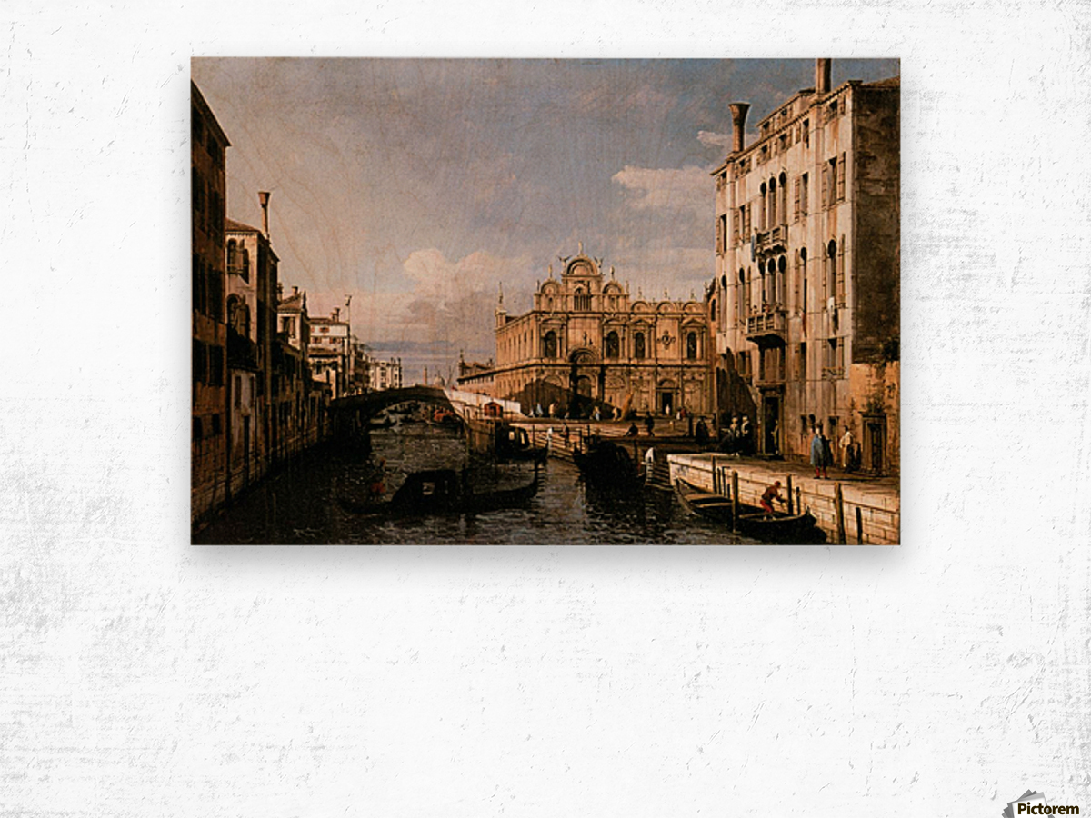 Rio dei Mendicanti with the Scuola di San Marco Wood print