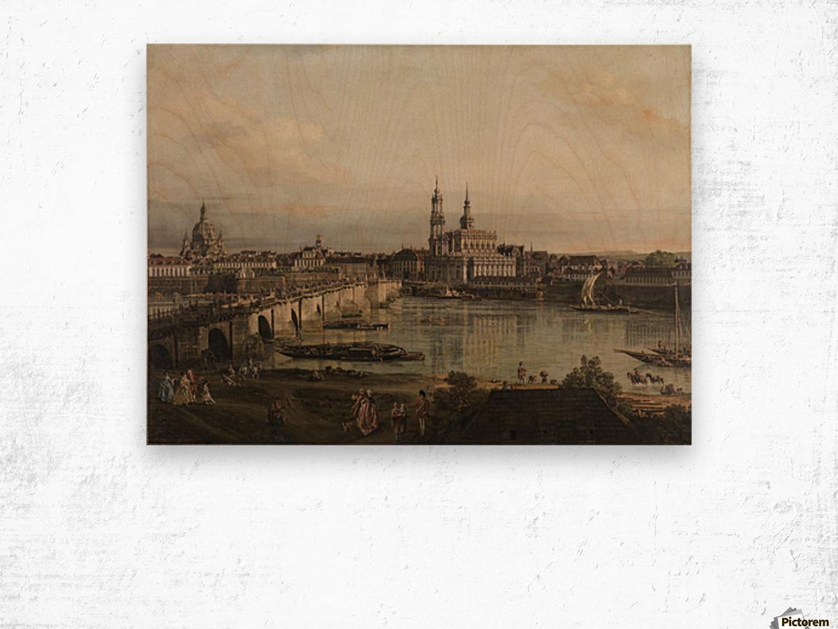 Dresden, die Altstadt Dresdens vom Neustadter Bruckenkopf Wood print