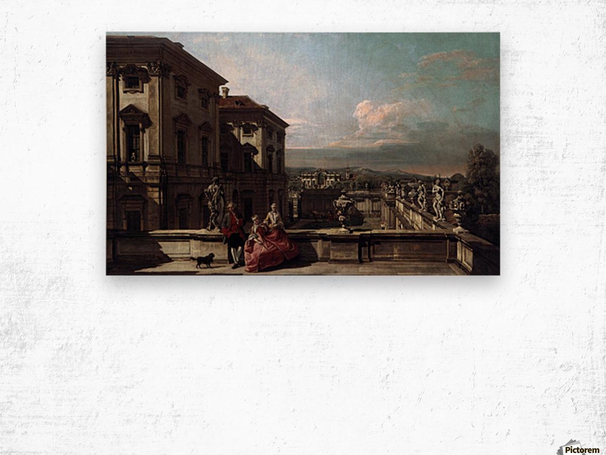 Liechtenstein Garden Palace in Vienna Seen from the East Wood print