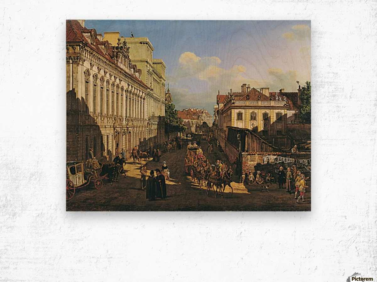 Miodowa Street in Warsaw Wood print