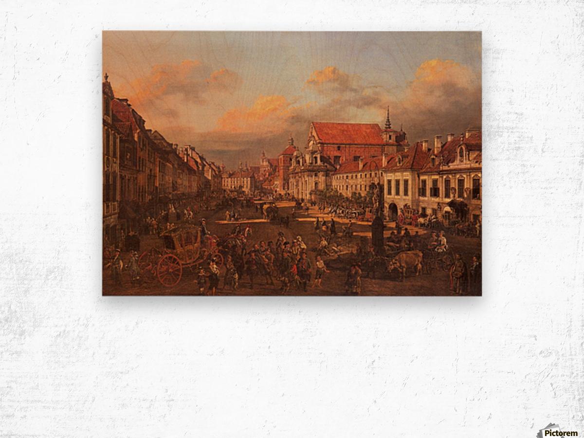 Die Altstadt wurde nach dem Krieg nach alten Wood print