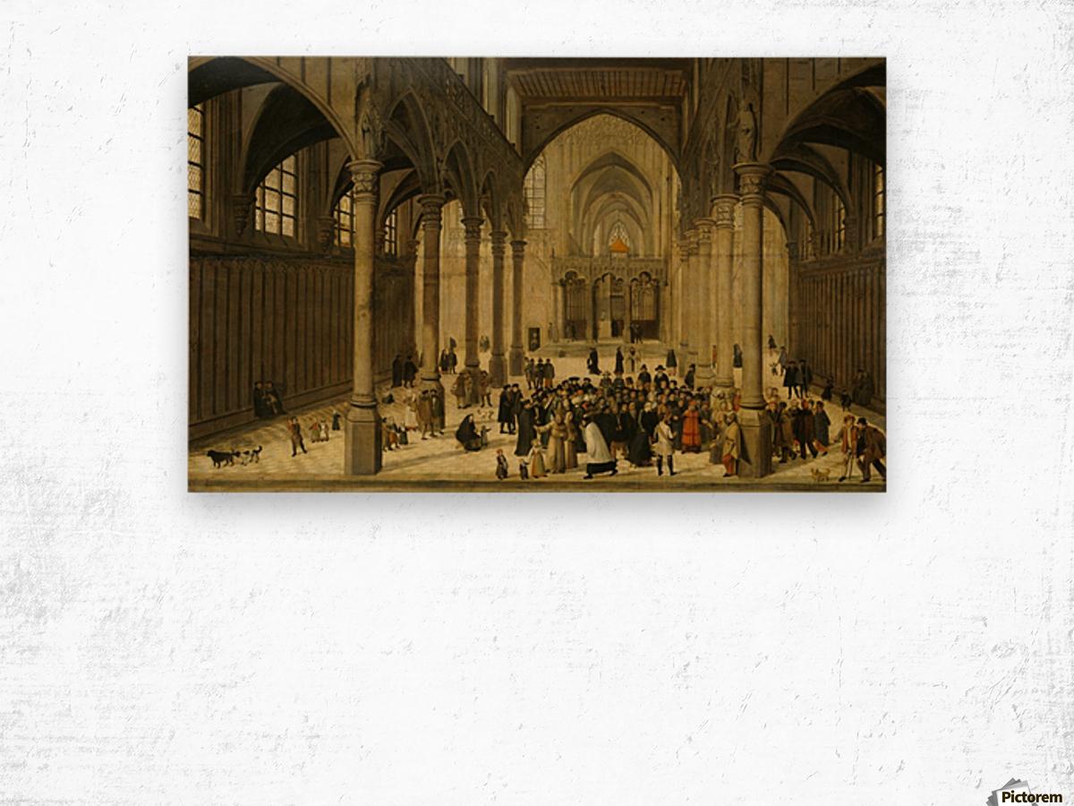 Church interior Wood print